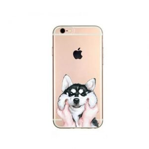Cartoon Alaskan Malamute Phone Case For iPhone