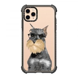 【Phone Case】Hipster Schnauzer Clear iPhone Case for Dog Lovers