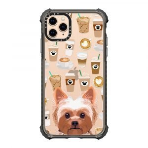 【Phone Case】Yorkie coffee clear phone case dog breed must have gifts for yorkshire terrier lover